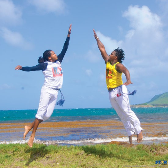 Sankar (l) and Augustin are aiming to take their sport to new heights in  St Lucia.