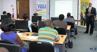 BOSL's Cornelius Sidonie presents to workshop participants