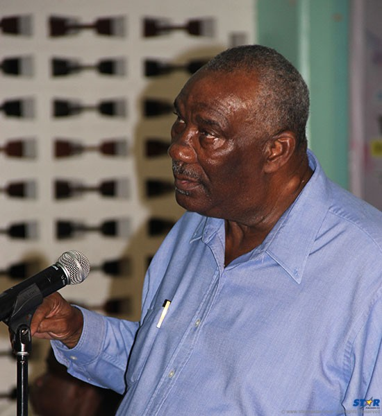 Former Minister of Communications Calixte George at Thursday's Town Hall Meeting: What exactly did he want to say that he was never given a chance to?
