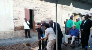 The ceremonial sod-turning for the Walcott Place Project which took place on January 17.