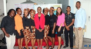 "Marva Greenidge, centre, hosted a ""Sip and Chat"" at the launch of Tea Time Jazz."