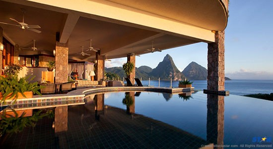 The Internationally renowned Jade Mountain.