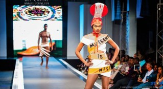Better from the back - Arte Y Moda hit the runway with a thought- provoking first look.