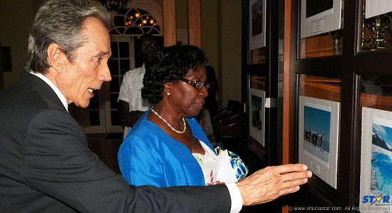Ambassador Luis Martínez Thomas and H.E. Governor General Dame Pearlette Louisy