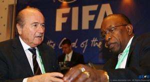 Sepp Blatter and Jack Warner in better times.