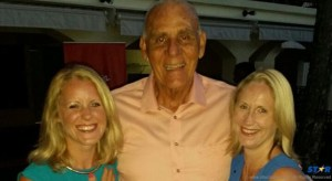 Coco Palm Chairman Michael Chastanet with Michala Burton and Nikki Goldsmith of Virgin Holidays.