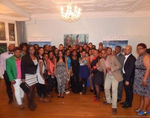 Young students of St Lucia at the reception in London.
