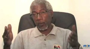 Earl Bousquet, head of Saint Lucia's Reparations Committee and one of the  panelists on a discussion on slavery and emancipation which aired on NTN on Wednesday July 29, 2015.