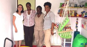 From left to right Mrs Karolin Troubetzkoy, German Honorary Consul, Mrs Daria Robinson Ernest, President CPA,   Miss Romona David, School Administrator  and Miss Diane Leonce, Vice President CPA.