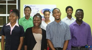 Students who participated in Harris Paints annual Internship and Summer Employment Programme (Left to right), Serrita Pierre, Julius Leonty, Chrissy Felix, Xena Sifflet , Ainsley Edward, Ephane Xavier and Kofi Cherry have been working with the coating specialists.