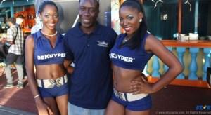 Winner Alexander Louis poses with the De Kuyper ladies.