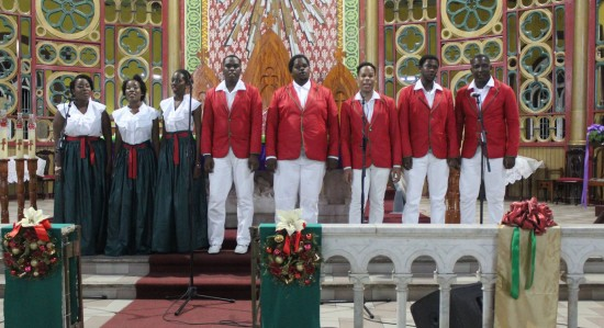 JustUs Choir performing at last Sunday's Festival of Carols.