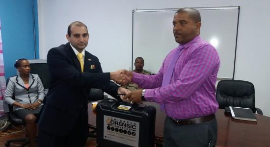 Presentation of Forensic Kit to Milton Desir