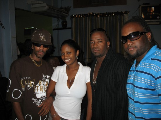 Flashback: In 2008 TJ was one of four artistes supported by the CDF to enter the semi-finals of the International Soca Monarch. L-R: Ricky T, Marianne, TJ and Kerian Piper.
