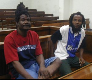Francis Phillip and Kim John (l-r) were found guilty of murder in relation to the cathedral incident. After the Privy Council determined they should be retried, the two agreed to a plea bargain. They are not expected ever to walk the streets again but . . .