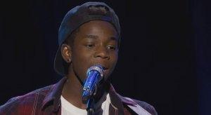 Lee Jean jr performing on American Idol.