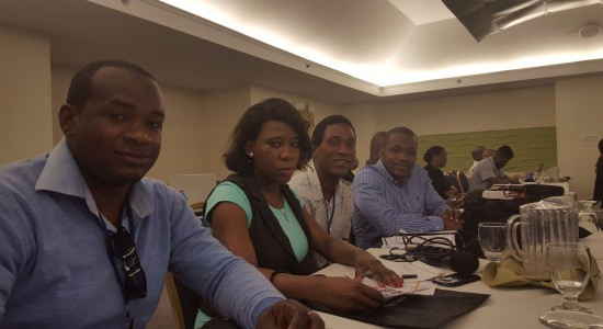Some of the media practitioners from Saint Lucia who attended the workshop.