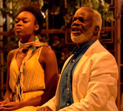 Actors Joan Iyiola and Joseph Marcell deliver their lines with passion and dexterity.