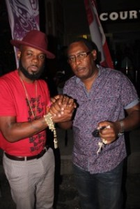 "Photos: Jason ""Shaft"" Bishop of Trinidad (left) with Teddy"