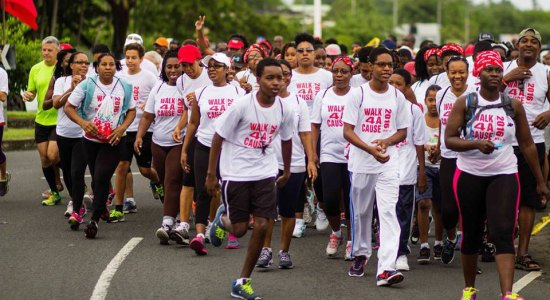 Participants in the third annual Walk 4 A Cause were this year doing it for the St. Lucia Diabetes and Hypertension Association.