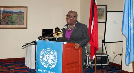 Dr. Gale Rigobert advocating more help, support and advancement for women.