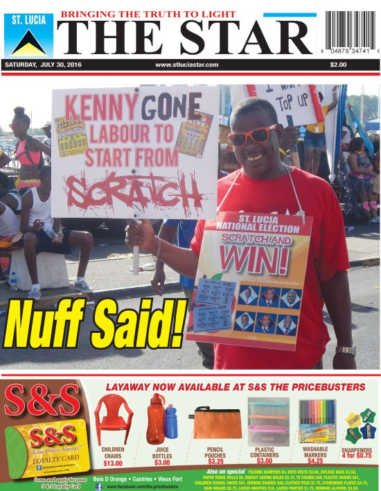 The St. Lucia STAR Newspaper for Saturday July 30th, 2016 ~ Photo of the Week