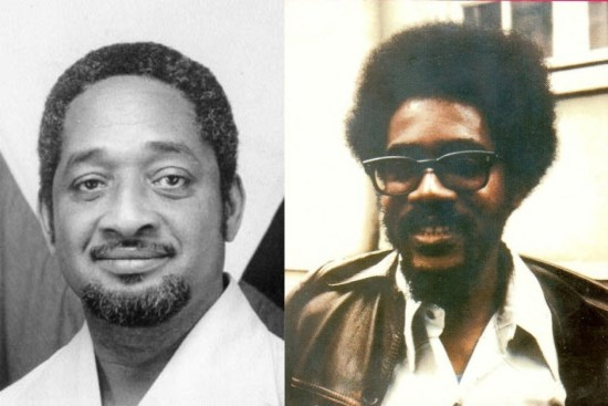 Deceased Guyana President Forbes Burnham (left) and Dr. Walter Rodney, whose untimely death in 1980 remains a highly charged topic.