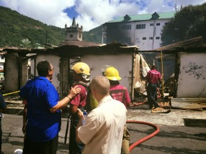 PM with firemen