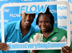Ayisha Job topped up $15 and won $300 from Flow! #Transcend #EndlessEverythingSummer