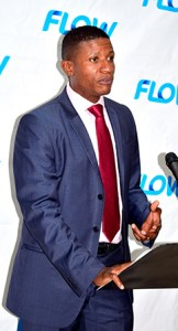 HR Director Joseph Augustin speaks at the Flow Scholarship Presentation Ceremony 2017
