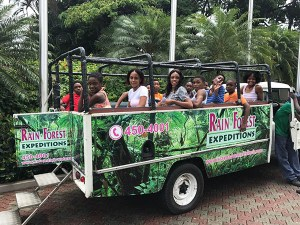 Sandals Foundation Scholarship Holders off to a day of fun - 2017