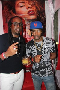 Ricky T and his manager and producer Courtney Louis