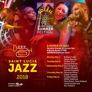 Saint Lucia Jazz -Sandals Schedule