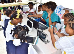 Students and teachers alike enjoyed a super-fast connection from Flow on International Internet Day