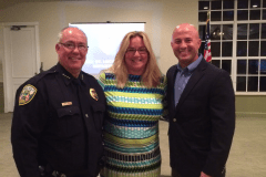 Feb 8, 2017 PSL Police Chief Bolduc, Georgette Beck, Asst Chief DelToro