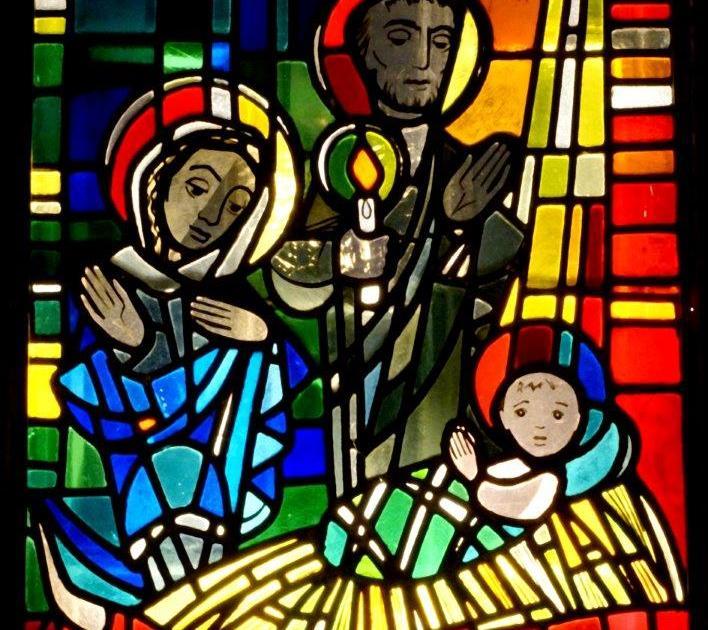 Glasfenster Geburt Jesu