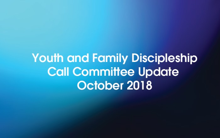 Youth and Family Discipleship Call Committee Update – 2018