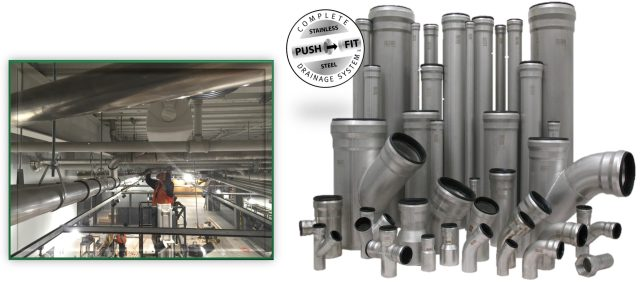 Josam Stainless Steel Push-Fit pipe and Fittings