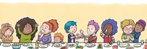 Supper table illustration