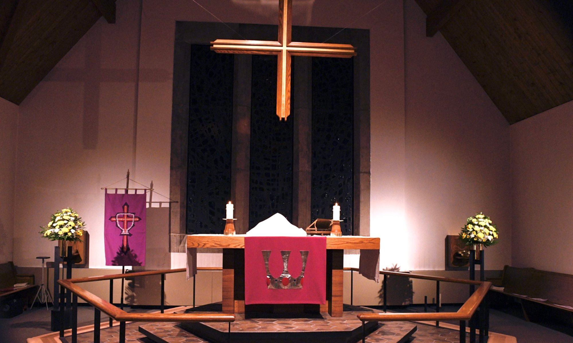 St. Mark's altar during Lent
