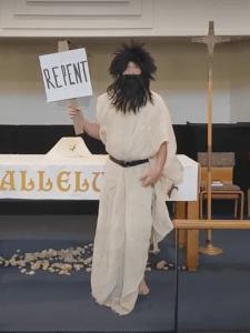 Gordon Simmons as John the Baptist