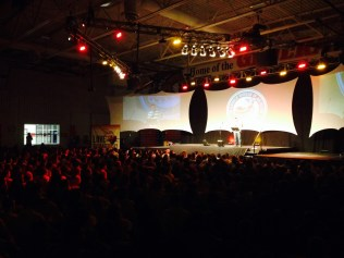 At camp. 1200 people.