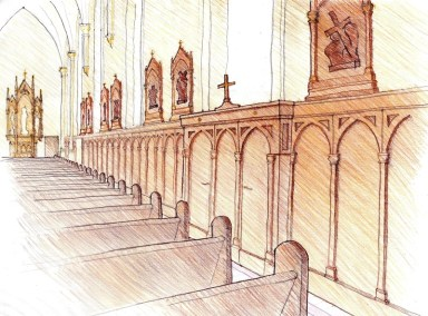Side Aisle Perspective