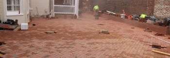Brick Patio almost finished!