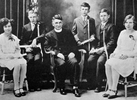 Father Neumann with the Class of 1930.