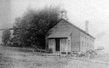 The first St. Mary's school, built in 1884.