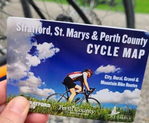 on bike path info card