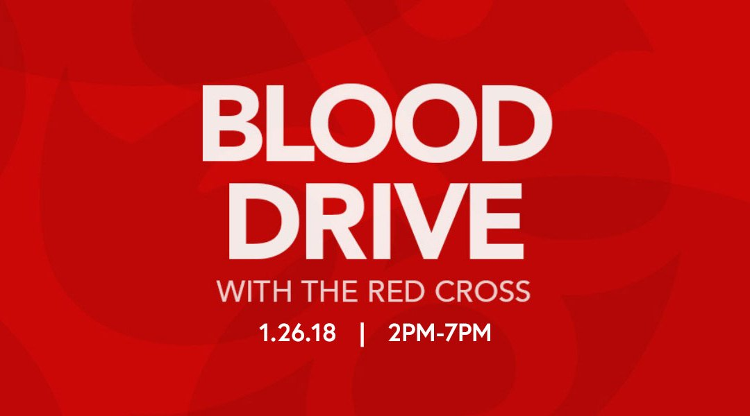 Red Cross Blood Drive 1/24 2-7pm