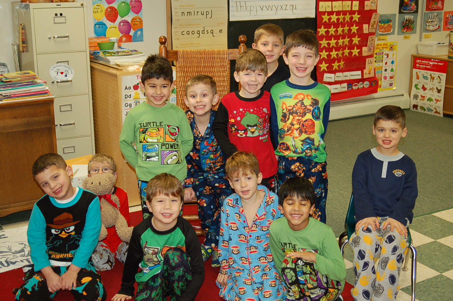Pictures From Pajama Day