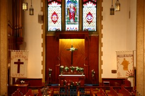 Chancel at Easter